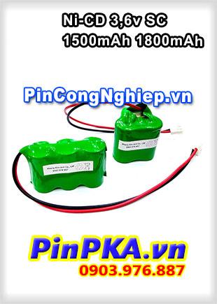 Pin sạc khối 3,6v SC1500mAh SC1800mAh Ni-CD