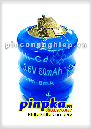 Pin Ni-MH Ni-CD 60K3A 3,6V 60mAh