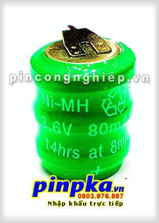 Pin Sạc Công Nghiệp Ni-MH 3,6V 80mAh 80H3A