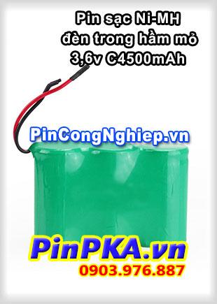 Pin sạc khối Ni-MH 3,6v C4500mAh-301-311-326 Đèn Hầm Mỏ
