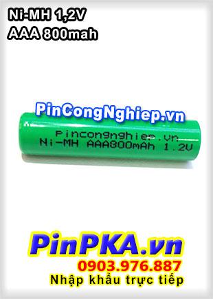 Pin Sạc Công Nghiệp-Pin Cell 1,2v NIMH AAA 800mAh