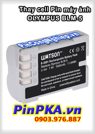 Thay cell Pin Máy Chụp Ảnh OLYMPUS BLM-5 7,4v 1600mAh