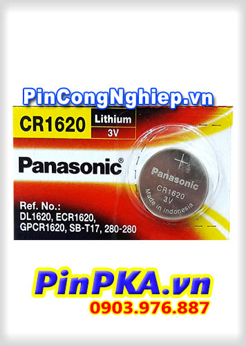 Pin Cúc Áo 3V Panasonic Lithium CR1620