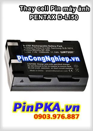 Thay cell Pin Máy Chụp Ảnh PENTAX D-Li50 7,4v 1500mAh