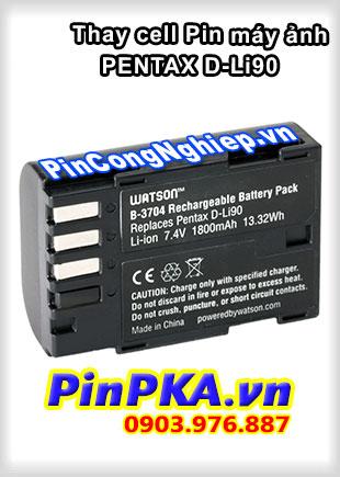 Thay cell Pin Máy Chụp Ảnh PENTAX D-Li90 7,4v 1800mAh
