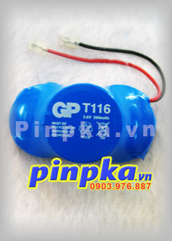 Pin sạc Khối GP-T116 3,6v 280mAh Rechargeable Ni-Cd Battery