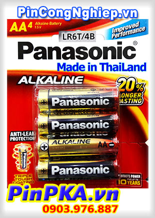 Pin Alkaline AA 1,5v Panasonic Longer Lasting LR6T(4B)