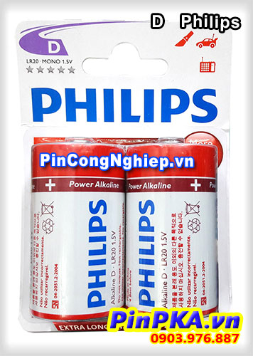 Pin 1,5v D Philips Alkaline