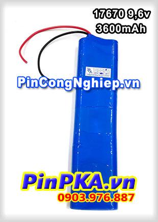 Pin sạc khối Ni-MH 9,6v 17670 3600mAh