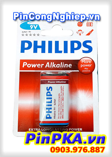Pin 9v Philips Alkaline