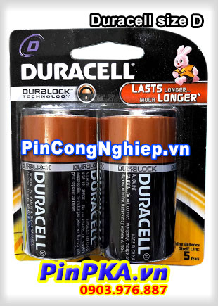 Pin Đại 1,5v Alkaline D Duracell Duralock Technology (vỉ 2)