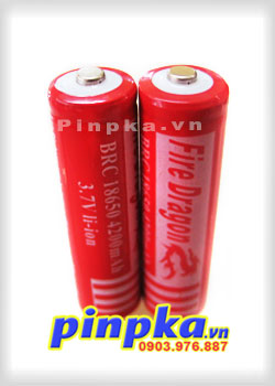 Pin Sạc Li-ion 3,7V Fire Dragon BRC 18650 4200 Mah