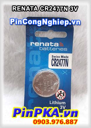 Pin Lithium Đồng Tiền 3V Renata CR2477N