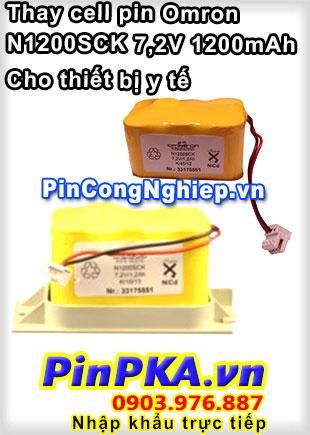 Thay Cell Pin Thiết Bị Y Tế Omron N1200SCK 1200mAh 7,2V