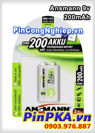 Pin sạc 9v Ansmann MaxE 200mAh 5035342