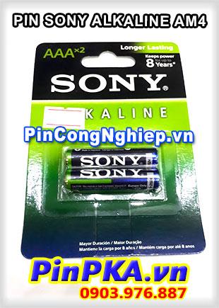 Pin SONY Alkaline AM4 / Pin AAA vỉ 2 viên 1.5v
