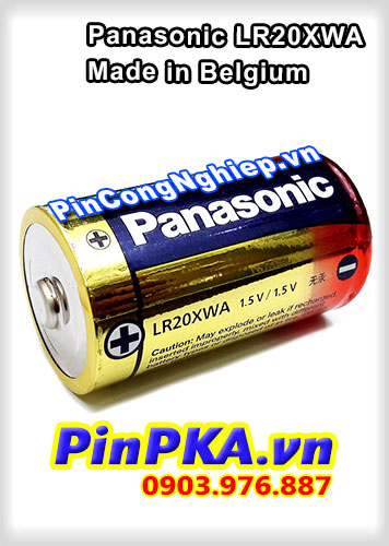 Pin đại 1,5v size D Panasonic LR20XWA (Made in Belgium)