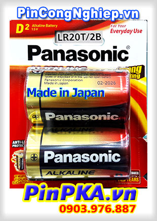 Pin đại 1,5v Alkaline D Panasonic Longer Lasting LR20T/2B Made in Japan