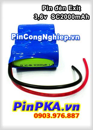 Pin Đèn Exit Ni-MH 3,6V SC2000mAh