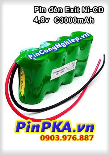 Pin đèn Exit 4,8v C3000mAh Ni-CD