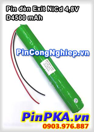 Pin đèn Exit NiCd 4,8V D4500mah