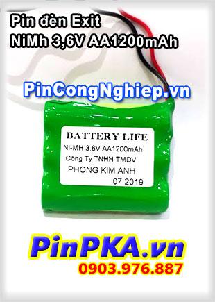 Pin đèn Exit NiMh 3.6V AA 1200mAh