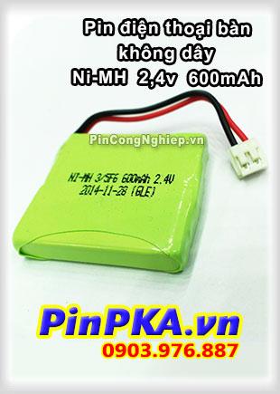 Pin điện thoại bàn không dây Ni-MH 2,4v 600mAh