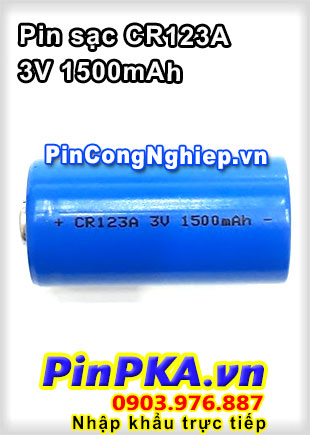 Pin Sạc Li-ion CR123A 1500mAh 3V