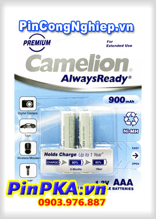 Pin Sạc Camelion AlwaysReady AAA 900mAh NH-AAA900RBP2