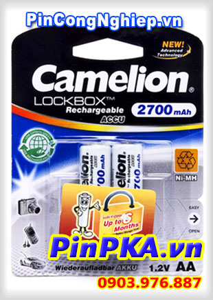 Pin Sạc Camelion LockBox 1,2v AA 2700mAh NH-AA2700LBP2