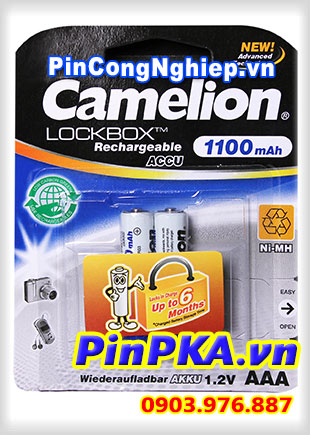 Pin Sạc Camelion LockBox 1,2v AAA 1100mAh NH-AAA1100LBP2