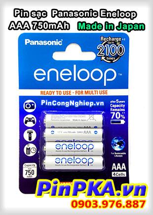 Pin sạc Panasonic Eneloop AAA 750mAh Japan BK-4MCCE/4BE