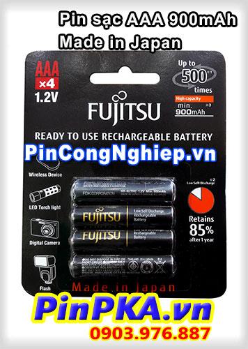Pin sạc đũa AAA Fujitsu 900mah HR-4UTHCEX(4B) (vỉ 4) (Japan)