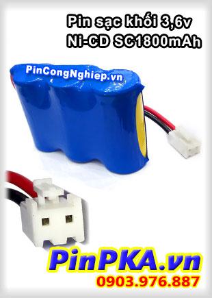 Pin sạc khối 3,6v Ni-CD SC 1800mAh