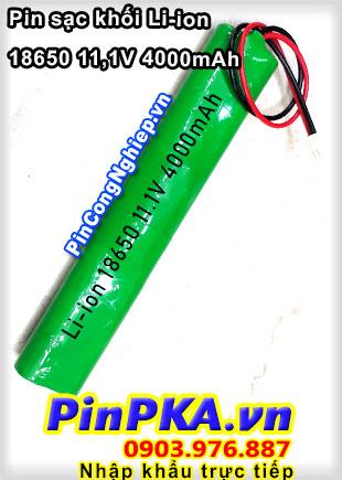Pin Sạc Khối Li-ion 18650 11,1V 4000mAh
