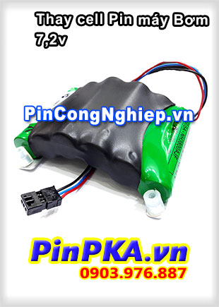 Thay cell Pin Máy bơm 7,2v