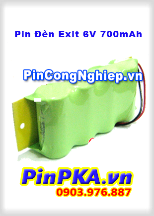 Pin Đèn Exit 6V 700mAh Ni-mh