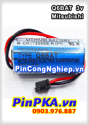 Pin Nuôi Nguồn PLC-CNC Lithium 3V Mitsubishi Q6BAT (CR17335SE-R) 2/3A 1800mAh