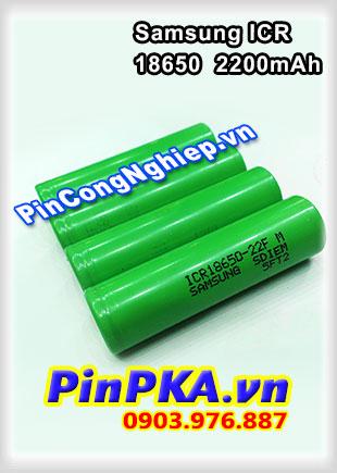 Pin Sạc Li-ion 3,7v Samsung ICR 18650-22F 2200mAh