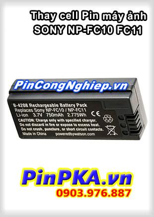 Thay cell Pin Máy Chụp Ảnh SONY NP-FC10 FC11 3,7v 750mAh