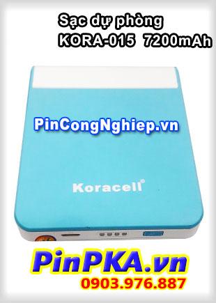 Pin sạc dự phòng Koracell KORA-015 7200mAh Xanh