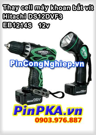 Thay Cel Pin Máy Khoan Hitachi DS12DVF3 EB1214S 12v