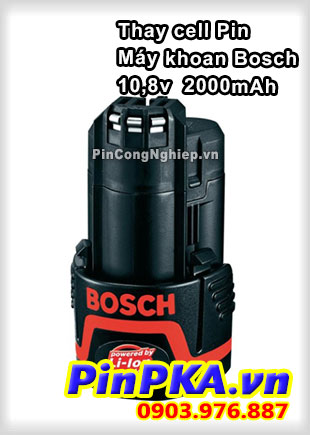 Thay Cell Pin Máy Khoan Bosch 10,8v 2000mAh