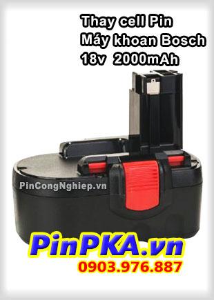 Thay Cell Pin Máy Khoan Bosch 18v 2000mAh