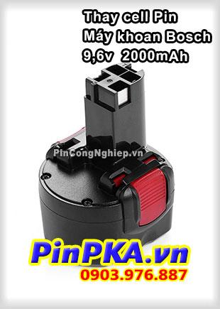 Thay Cell Pin Máy Khoan Bosch 9,6v 2000mAh