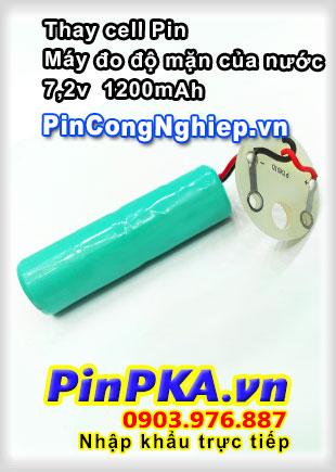 Thay cell pin Máy Đo Độ Mặn Của Nước 7,2v 1200mAh