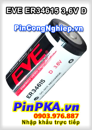 Pin Lithium EVE ER34615 3,6V D