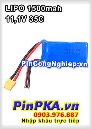 Pin Lithium Polymer LIPO 1500mah 11,1V 35C