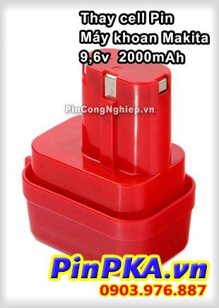 Thay Cell Pin Máy Khoan Makita 9,6v 2000mAh
