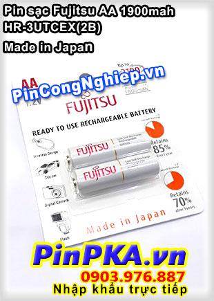 Pin sạc AA Fujitsu 1900mAh HR-3UTA(2B) Made in Japan